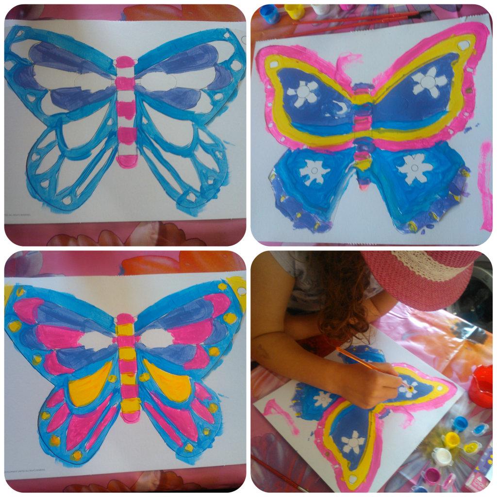 butterfly masks 3 1024x1024 Butterfly Masks Craft Set   Review