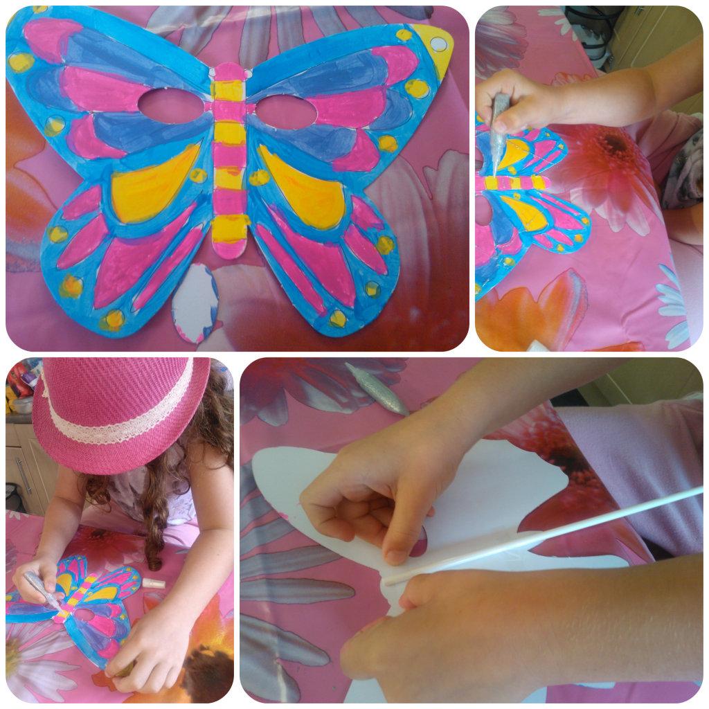 butterfly masks 4 1024x1024 Butterfly Masks Craft Set   Review