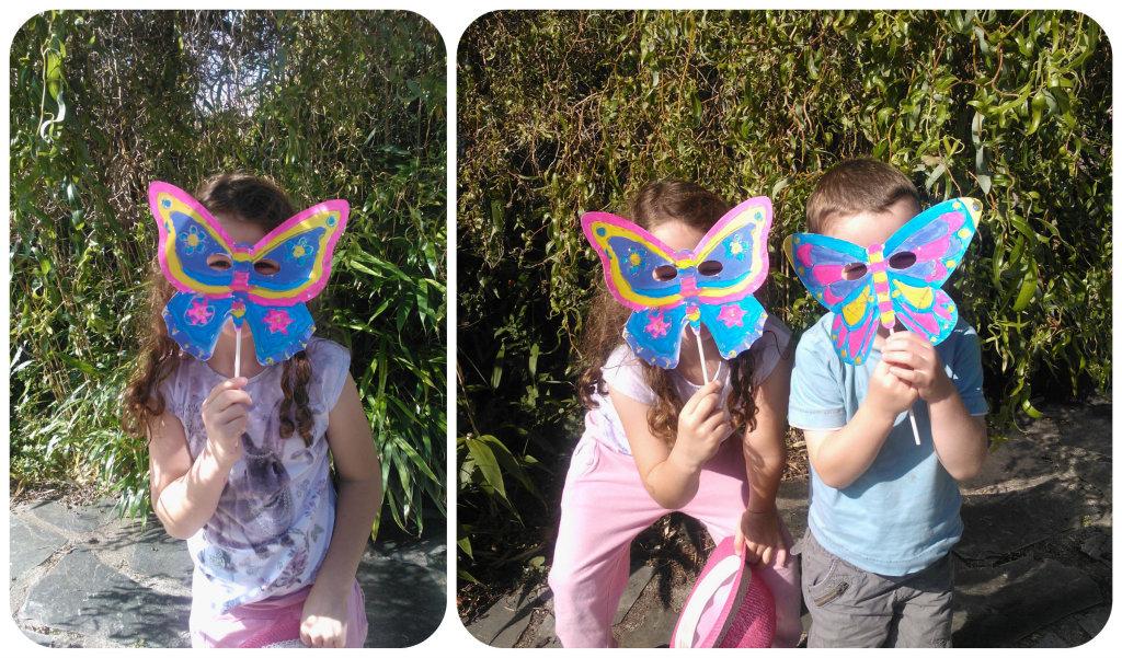 butterfly masks 5 1024x601 Butterfly Masks Craft Set   Review