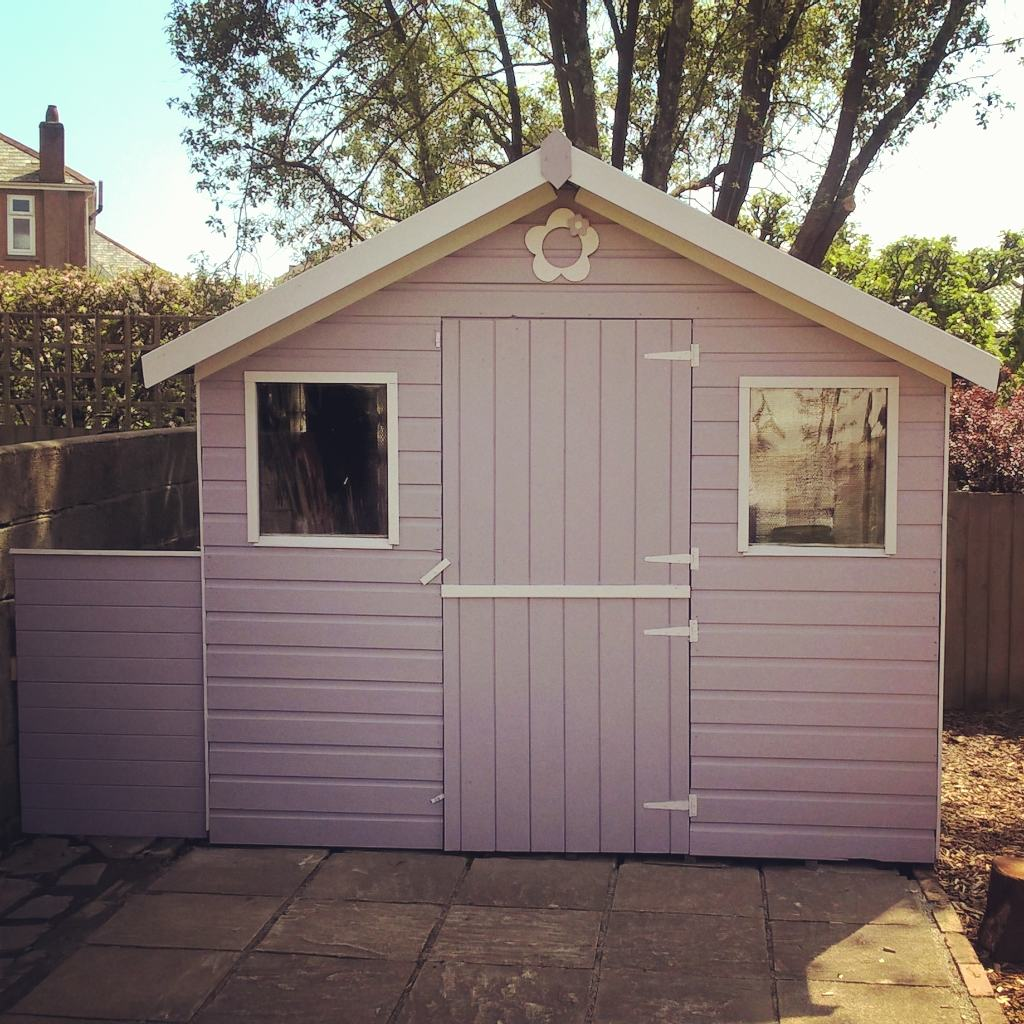 Garden Shed Makeover With Valspar Paint Mummy S Little
